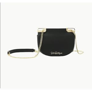 Lily Pulitzer Waldorf Crossbody in Onyx Leather